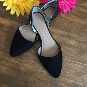 GAP Suede & Leather Flat Slip-on Shoes